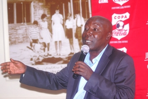 KSSSA Sec. General during Copa Coca-Cola Media Launch