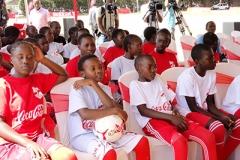Students during Copa Coca-Cola Launch