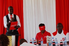 News Anchor Mike Okinyi during Copa Coca-Cola Launch