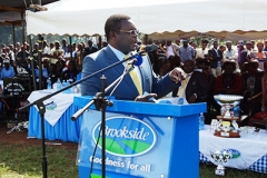 Governor Lusaka giving his speech