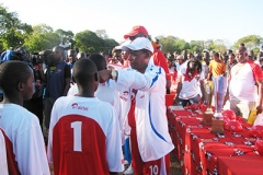 Former Education Minister - The Late Hon. Mutula Kilonzo during KSSSA games 2012 (Sponsored by Airtel)