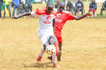 St. Anthony Captain Philip Mayaka during boys' soccer
