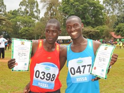 10,000 men finals winner-0477-Dominic Kiptum-with-2nd-Kevin-Kibiwot-0398