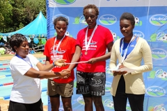 Awarding of swimming Champs