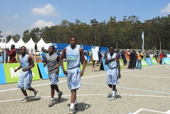 Basketball Team During Opening Ceremony
