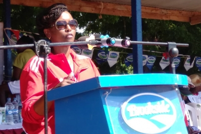 Christine Maina, General Manager - Marketing, Brookside at opening of the Brookside Term 1 Games 2019