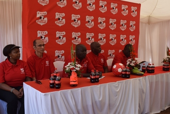 Officials during 2017 Copa Coca-Cola Launch
